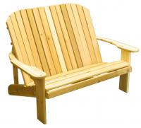 Click to enlarge image Adirondack Loveseat  - Designed for love birds with room for two to curl up in!