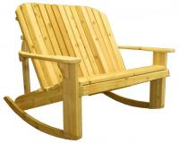 Click to enlarge image Adirondack Loveseat Rocking Chair - For someone who can`t sit still.