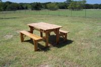 Click to enlarge image Picnic Table Bench Convertible - Unique, versatile, and functional in the same piece.