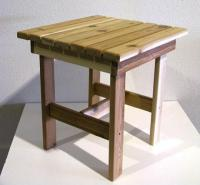 Click to enlarge image Square Table - A traditional style table  that will fit   between 2 Chairs.